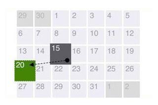 Kalendārs ar datumiem