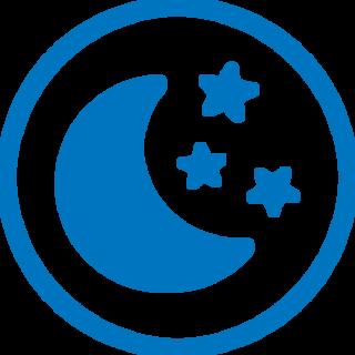 Mėnulio ir žvaigždžių piktograma